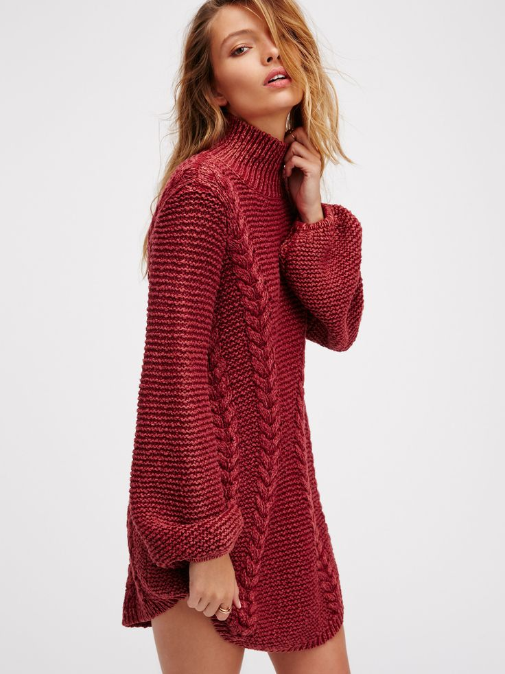 Back To Back Sweater Mini   Cozy up in this thick knit sweater mini dress with a comfy turtleneck and cute rounded hem.