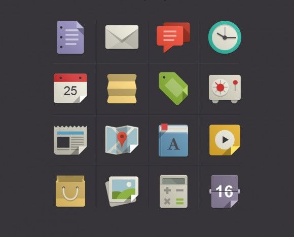 Flat Design Icons Set Vol 1 - Main