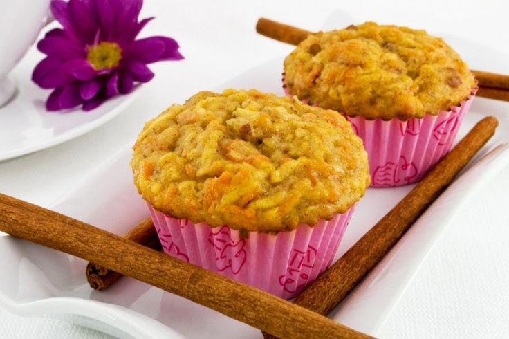 Muffin aux pommes, carottes et miel...sans sucre!
