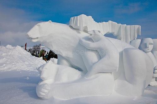 Snow Sculpture - Carnaval de Quebec
