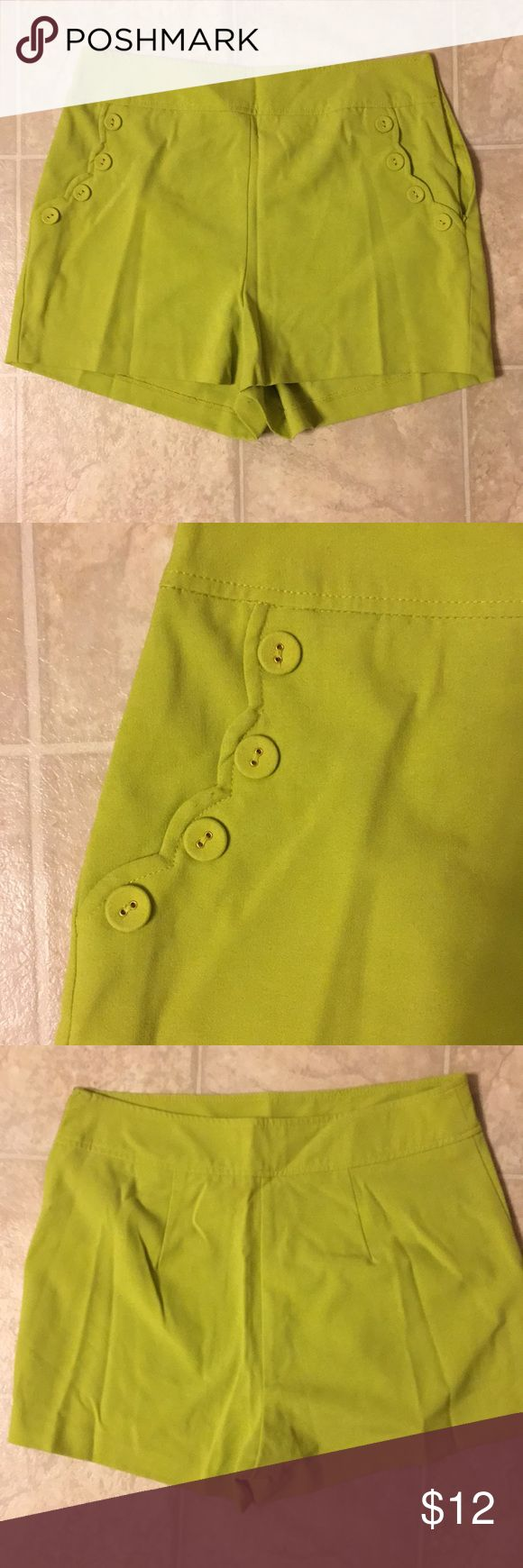 Lime Green shorts The cutest little lime green shorts! Forever 21 Shorts