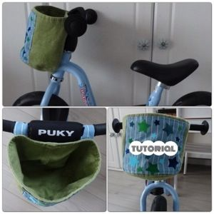 Tutorial: een fietsmandje zelfmaken voor loopfiets, driewieler of fiets diy patroon pattern bike carrier kids children