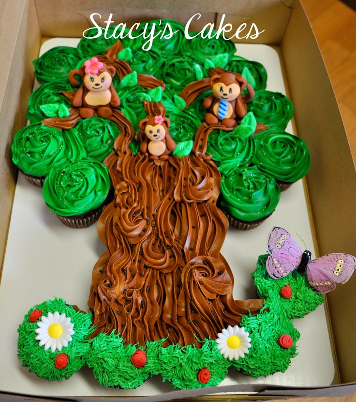 Stacys Cakes Monkey Cupcake Tree