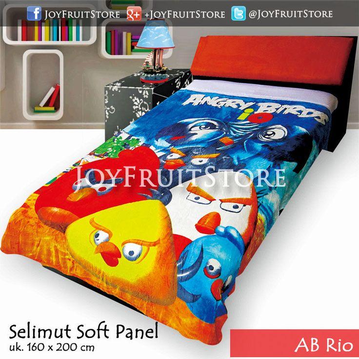 selimut bulu lembut halus (soft panel) angry bird rio joyfruitstore.com pin bbm 74258162, wechat joyfruitbedcover, whatsapp 081931151596