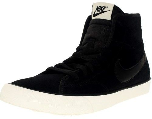 Nike Women's Primo Court Mid Suede Black/Black Sail Ankle-High Fashion Sneaker - 8M