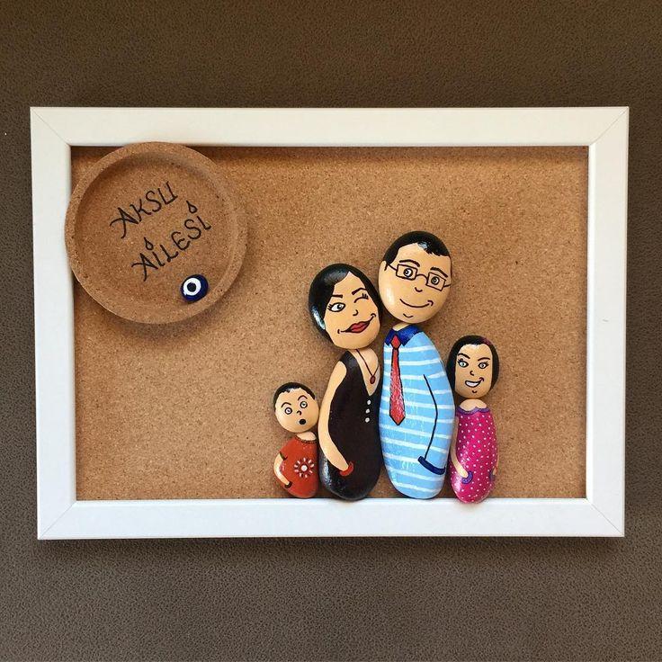 """118 Likes, 10 Comments - Dİ&CE Art (@nudiart2016) on Instagram: """"Nu&Di Art. Sevimli Aile 35x25 cm Sevgili dostlarımız Aksu ailesinin figürlerini büyük bir keyifle…"""""""