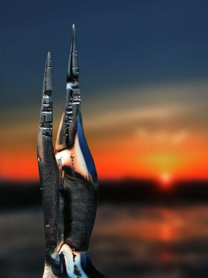 Nieuw in mijn Werk aan de Muur shop: A romantic sunset