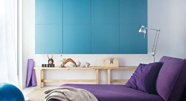 Purple blue white lounge furniture ~ Ikea 2013 Catalogue