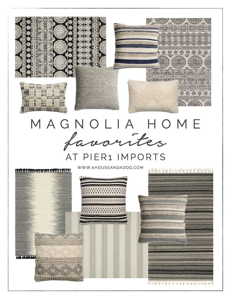 Magnolia Home Rugs + Pillows at Pier 1 Imports | Joanna Gaines | Fixer Upper Style | ahouseandadog.com