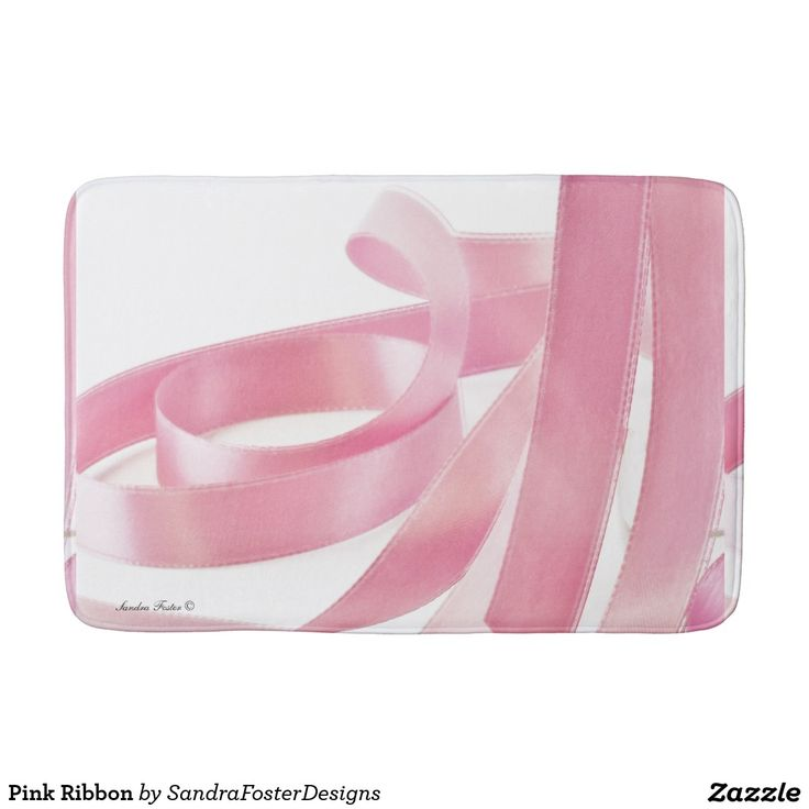 Pink Ribbon Bath Mats