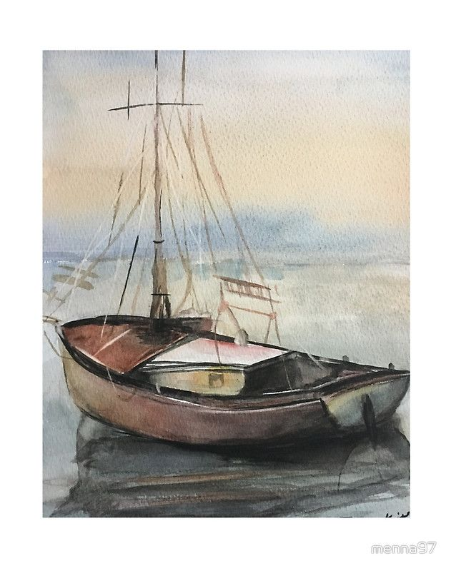 how to draw a realistic boat
