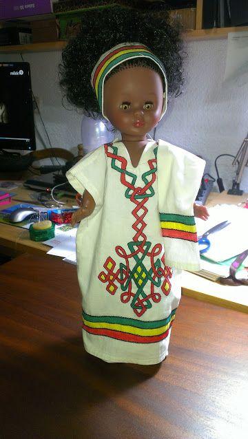 Pepa con vestido etíope para Nancy