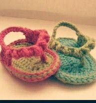 Baby croche slipper
