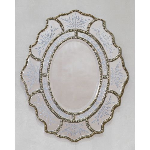 Found it at Wayfair.co.uk - Venetian Vintage Ribbon Mirror with Etching