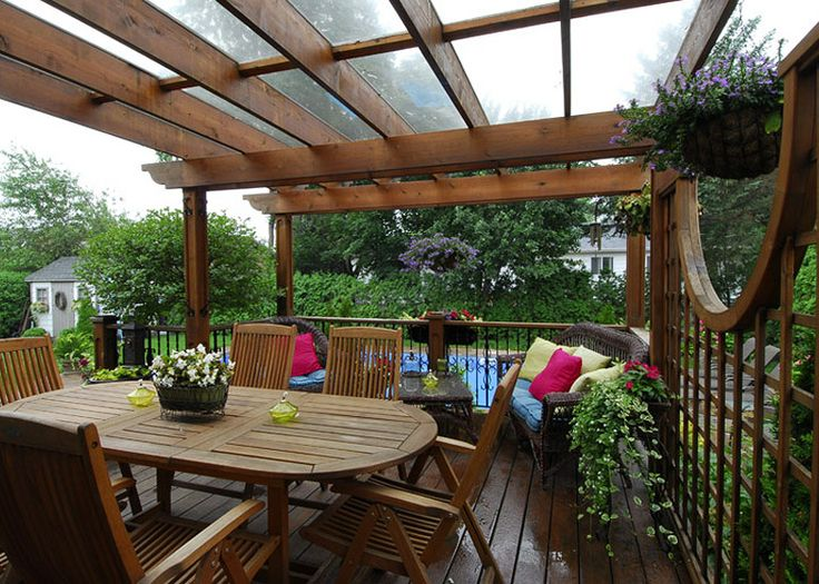 1000 id es sur le th me pallet pergola sur pinterest for Idees terrasses exterieures
