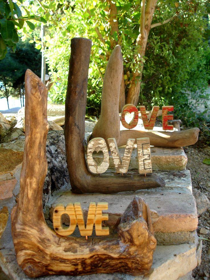 letreros madera reciclada
