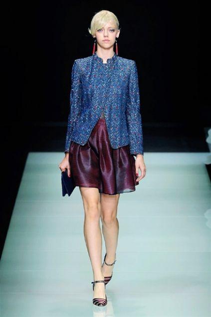 Sfilata Giorgio Armani - Primavera-Estate 2016 - Milano - Moda - Elle