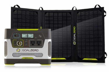 Goal Zero Yeti 400 Solar Generator Complete Solar Kits --- even better, here it is with the panel included! Need this!