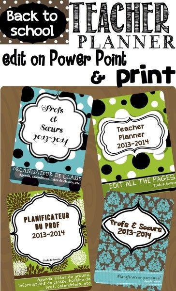 Easy to edit Teacher Planner for back to school!