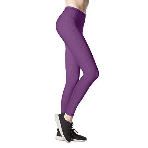 Lapasa Legging Femme Pantalon de Sport Yoga Fitness Gym Pilates Taille Haute  Gaine Large L01 418d6f7a194