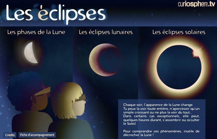 Une activité interactive pour comprendre les éclipses. Trois étapes composent ce module. La première nous aide à comprendre le système Soleil - Terre - Lune à travers les différentes phases de la Lune. Les deux suivantes permettent de simuler une éclipse lunaire puis une éclipse solaire. Ces deux types d'éclipse se produisent et dépendent de la position de la Lune par rapport au Soleil et à la Terr...