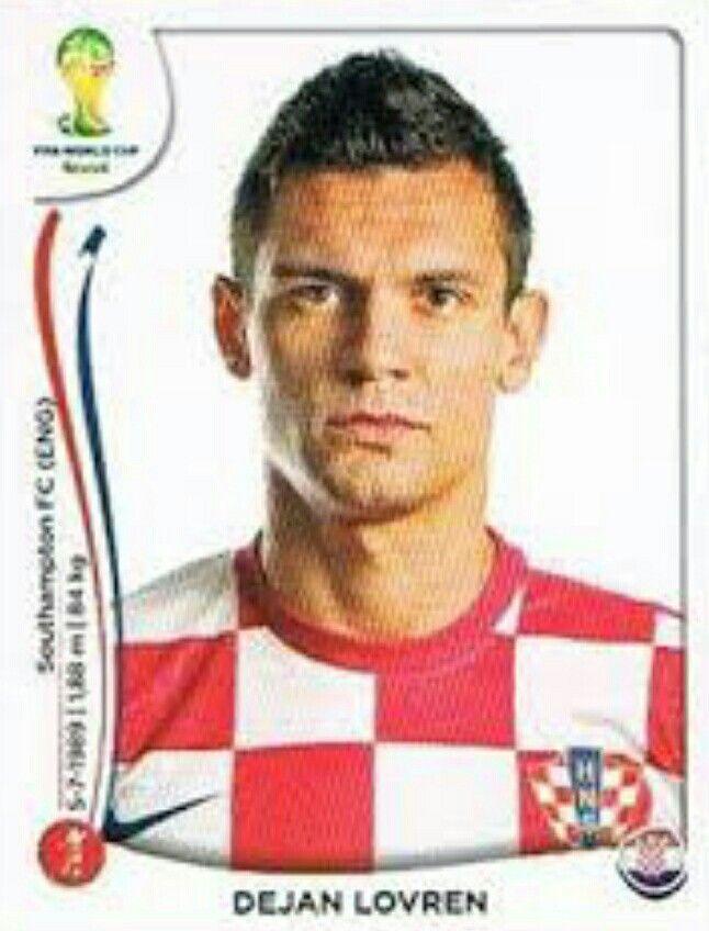 Dejan Lovren of Croatia. 2014 World Cup Finals card.