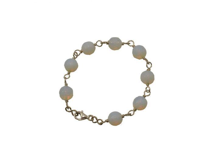 Βραχιόλι με φεγγαρόπετρα - Bracelet with moonstone