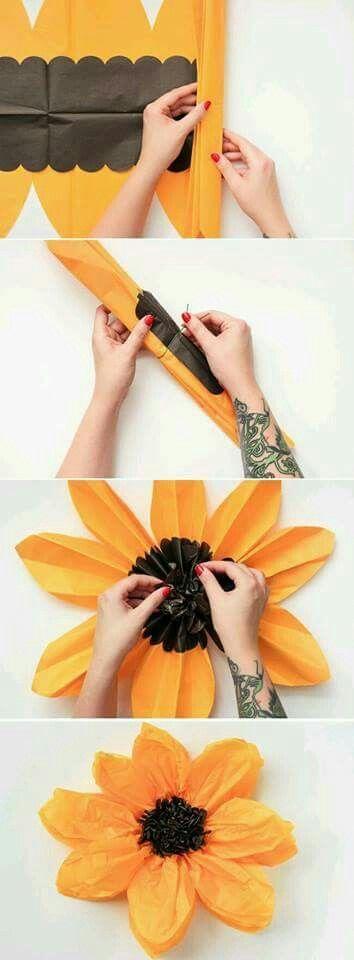 Flores em papel - Spring decorating idea?