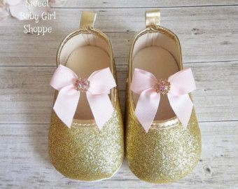 Pink and Gold First Birthday Gold Baby by SweetBabyGirlShoppe