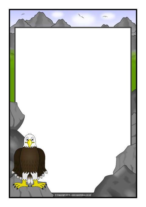 Eagle A4 Page Borders (SB12390) - SparkleBox