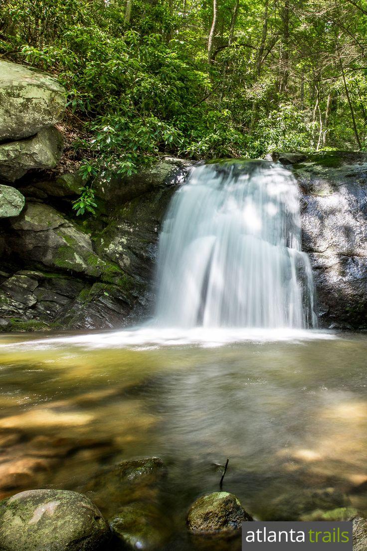 The Emery Creek Trail reaches the upper Emery Creek Falls waterfall at three miles