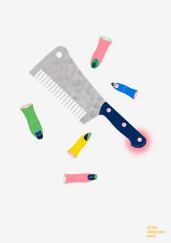 nail art chop comb © Eirian Chapman