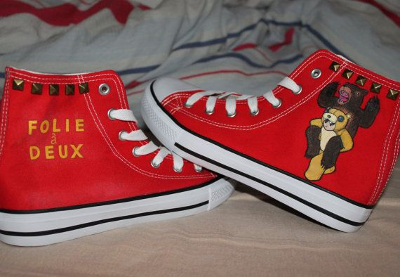Fall Out Boy  Folie A Deux shoes by ShadowMoses on Etsy - holy mother of yes please