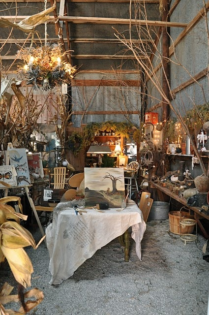 Nada Farm Sale in Esmond, Illinois  love the tree branches that fill space and add texture