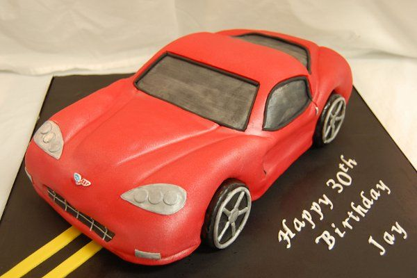 Sports car cake teenage boy's birthday