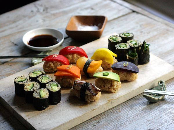 Vegetable Sushi Plate | food | Pinterest