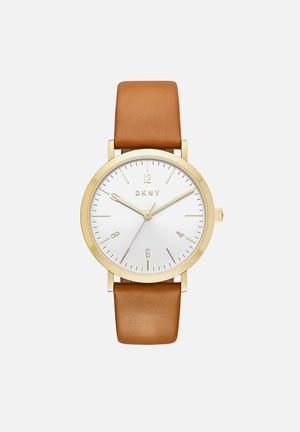 DKNY Minetta Watches Gold & Tan