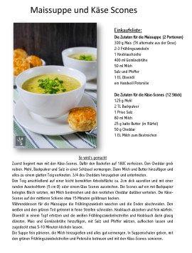 Sia's Soulfood bringt mit: Maissuppe und Käse Scones | Das Knusperstübchen