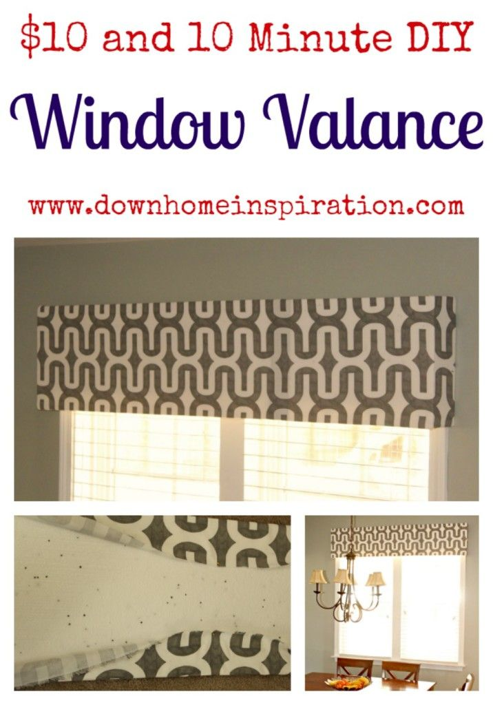 $10 and 10 Minute DIY Window Valance, just need to get foam from Lowe's plus finishing nails and straight pins