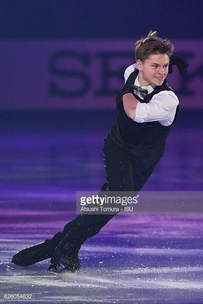 Deniss Vasiljevs of Latvia performs in the gala...