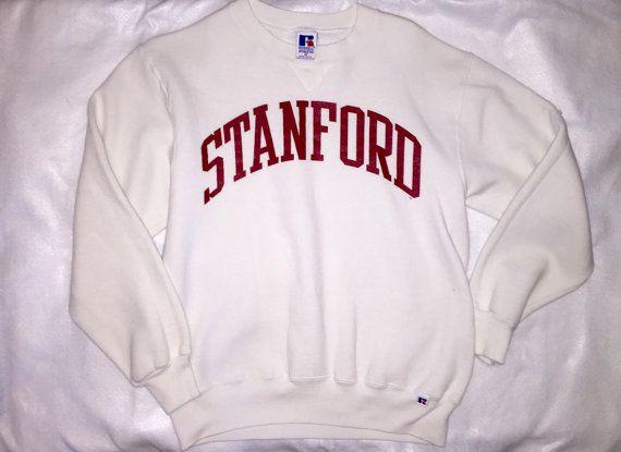Vintage Stanford White Crewneck Sweatshirt