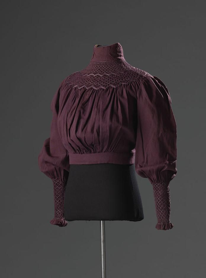 A gorgeous plum shirtwaist from the early Edwardian era!