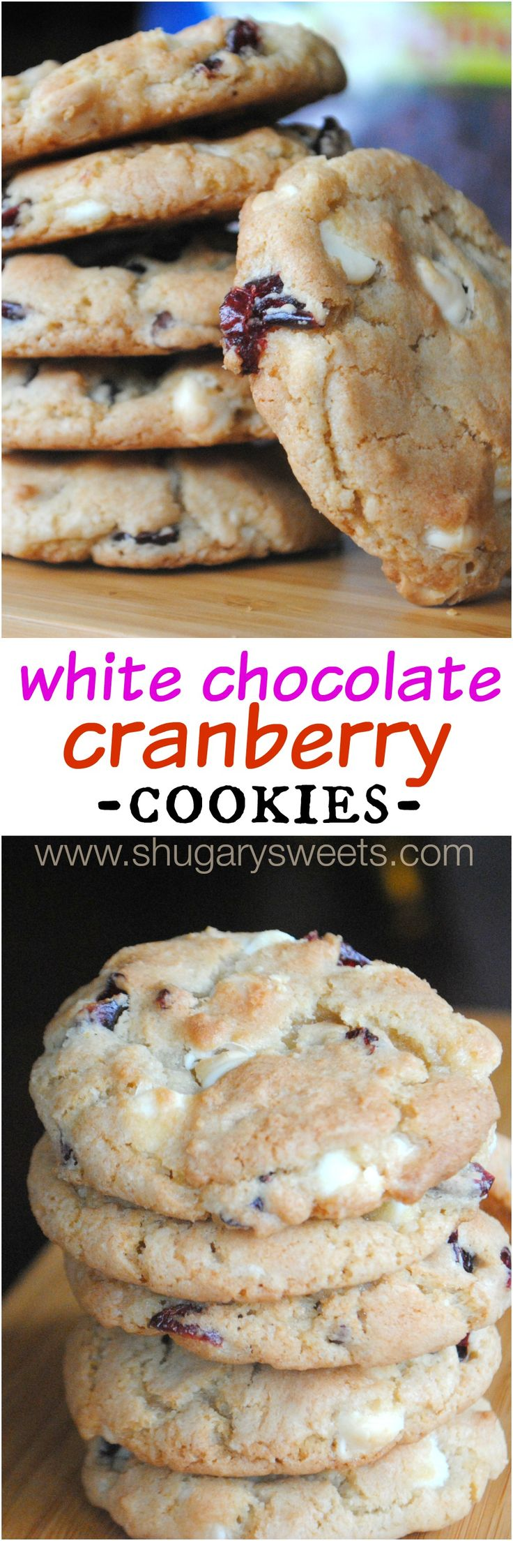 I had never eaten a white chocolate with cranberry cookie. Ever. So don't judge me if these are not what you were expecting. I took my basic cookie dough recipe and made them festive.   And in the process I fell in love. Why didn't anyone ever tell me how GOOD these cookies taste? What …