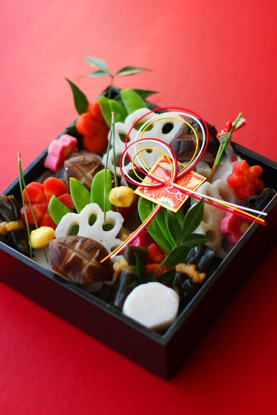 Japanese New Year's dish, Osechi.  What a contrast to our American foods.