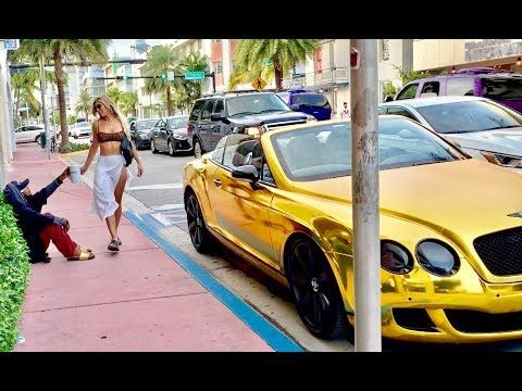 Slim Stunta Is Back This Time In Miami As A Homeless Man In A Gold Bentley Watch Part 1 2 Of The Social Experiment A Social Experiment Gold Bentley Bentley