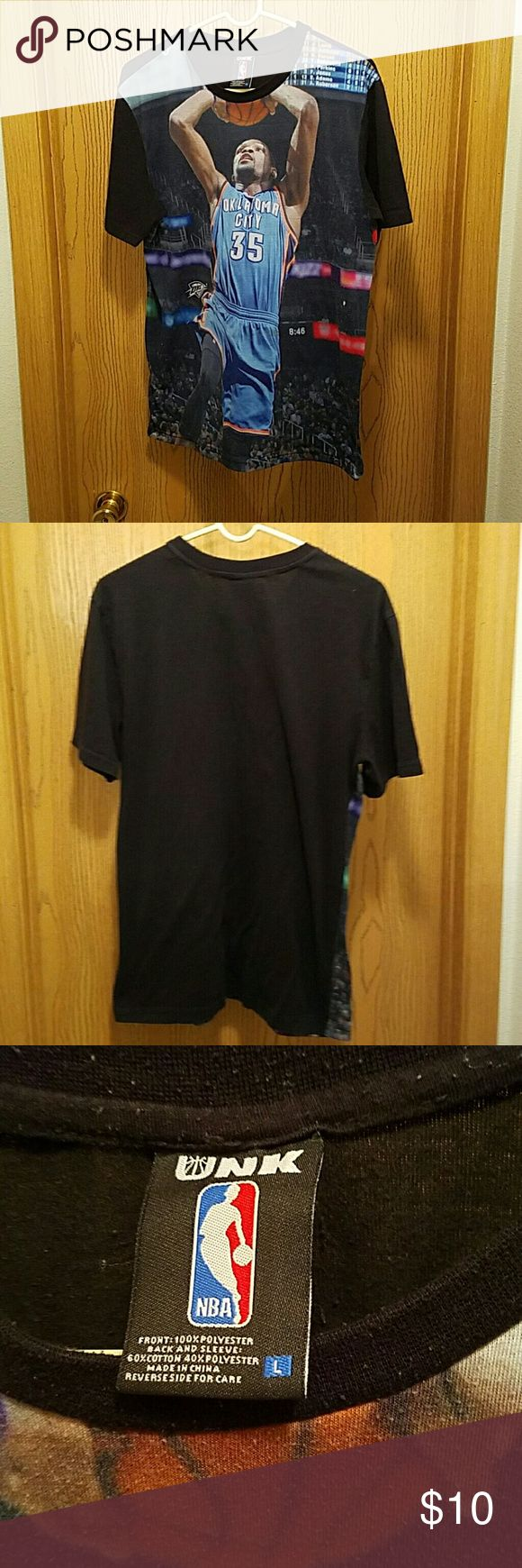 Basketball tee Size large oaklahoma city tee. Front has rough feel but was bought that way. No rips or stains Shirts Tees - Short Sleeve