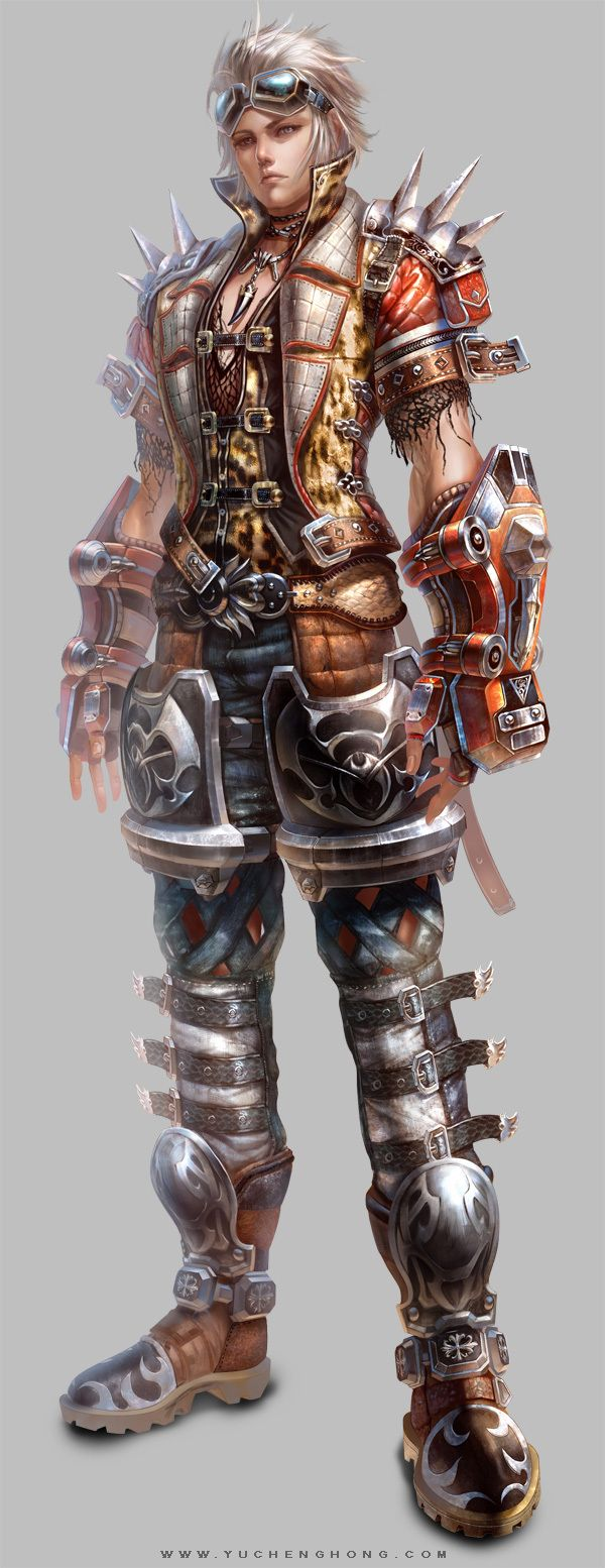 Fantastic character concept art from an abandoned game