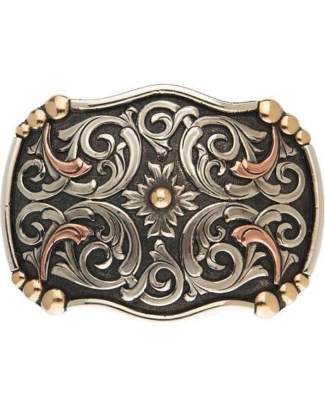 AndWest Acadia Vintage Tri-Tone Belt Buckle