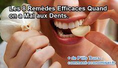 Voici 8 remèdes de grand-mères efficaces quand on a mal aux dents.  Découvrez l'astuce ici : http://www.comment-economiser.fr/maux-de-dents.html?utm_content=buffer3f39c&utm_medium=social&utm_source=pinterest.com&utm_campaign=buffer