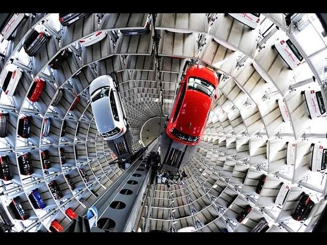 Automated Car Parking System China Vs Germany Volkswagen Volkswagen Factory Tower